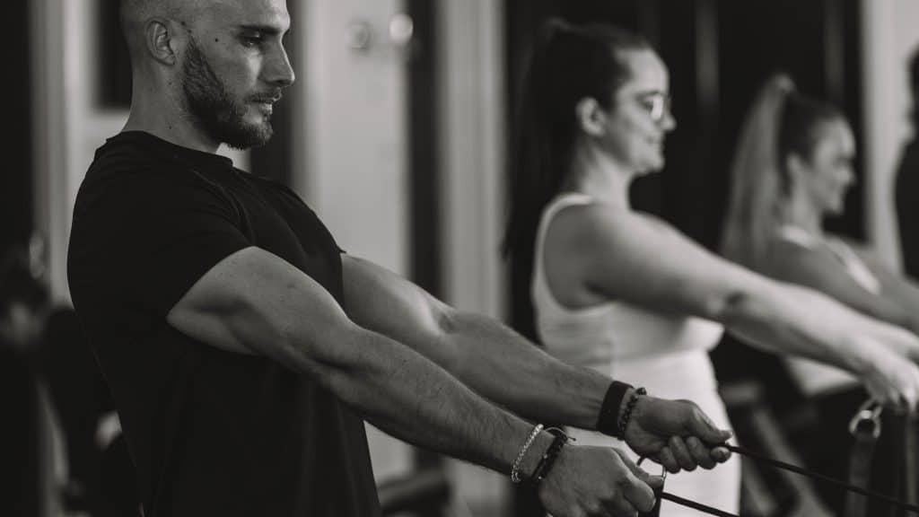 people exercising Pilates studio